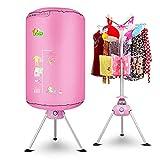 L&WB Pieghevole Portatile Vestiti Dryer 10Kg Carico Cuscinetto 1000W Energia Elettrica Risparmio Rack Asciugatura Rotonda Forma Rosa Ventre Intelligente Vestiti Dryer