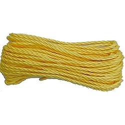 Chapuis ppj825u náutica–Cuerda trenzada (polipropileno,–Diámetro: 8milímetros–Longitud: 25metros–color: amarillo