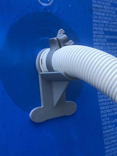 2x Schwimmbad Wendigkeit: Grau Halt für Rohre bis 37mm z.B. Intex