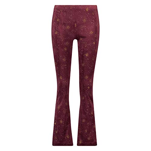 HUNKEMÖLLER Damen Flared Velours Leggings Rot S
