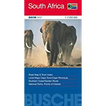 South Africa 1 : 2 200 000: Road Map & Town Index, Cape Town / Cape Peninsula, Southern Coast / Garden Route, National Parks, Points of Interest