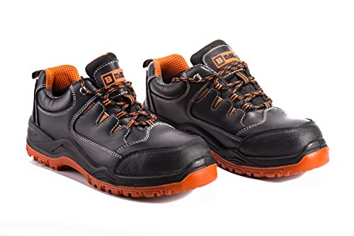 edf67aa0b1c Mens Waterproof Safety Trainers Ultra Lightweight Composite Toe Cap and  Kevlar Midsole Work Shoes Ankle Hiker 9007 S3 Black Hammer