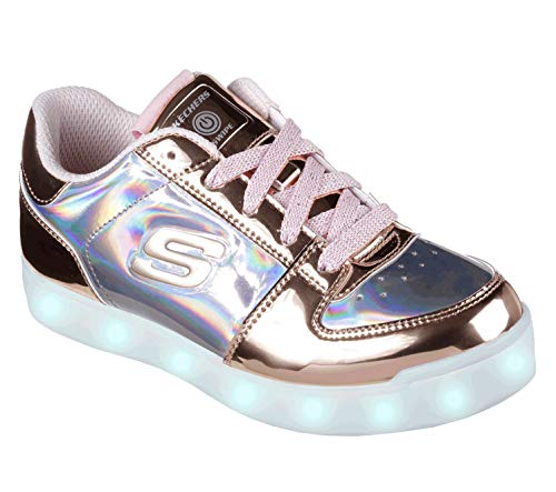 Skechers-Energy-Lights-Shiny-Sneaks-Zapatillas-para-Nias-Rose-Gold-Rsgd-34-EU