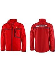 Ferrari F1 adultos Softshelljacke, todo el año, unisex, color Rojo - rojo, tamaño XXL