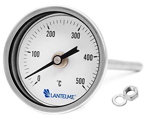 Lantelme Horno de 500 ° c grados/tandoor, horno/parrilla/fumador/fumar termómetros analógicos y bimetálico....