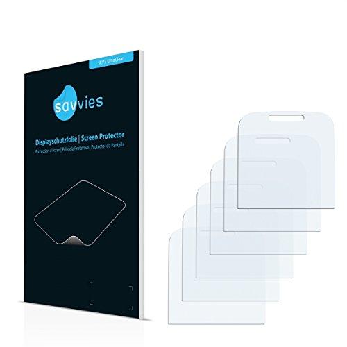 6x Savvies SU75 UltraClear Bildschirmschutz Schutzfolie für Doro Primo 365 (ultraklar, mühelosanzubringen)