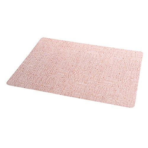 Skareop Strapazierfähige Platzdeckchen für Tassen, Schüssel, Teller, Tischdecken, abwischbar, rechteckig, frisches Muster, Untersetzer für Esstisch, rose, 44 * 30cm