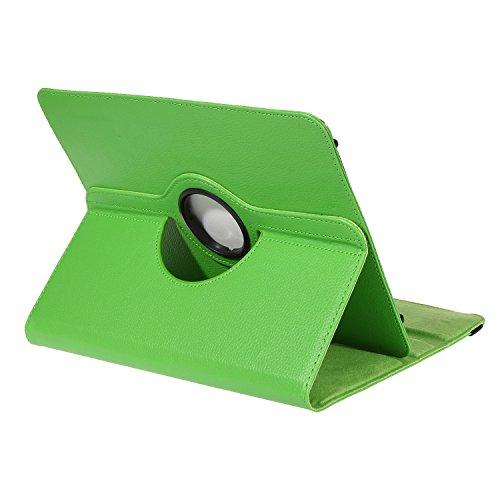 BRALEXX Universal Rotation Tasche passend für TrekStor Odys Prestigio Samsung Medion Lenovo i.onic Archos Acer Apple Grün