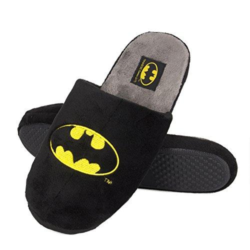 soxo Herren Hausschuhe Männer Pantoffeln Lustige DC Comics Batman Lizenziertes Produkt Gute Qualität, Schwarz, 45/46 EU