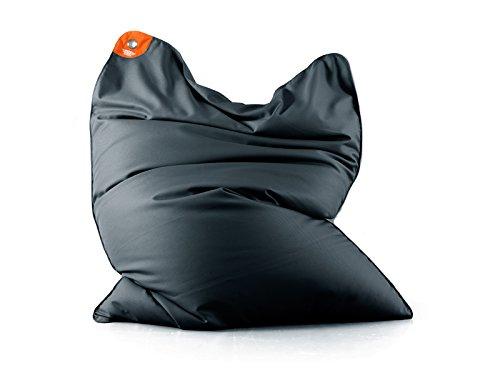 sitting_bull Sitzsack für Außen Sitzsack Pool Bull Grau Anthrazit–Form Birne Maße 190x 130cm chlorbeständig UV-beständig und zu Salzwasser Komfortables und Hochwertiges