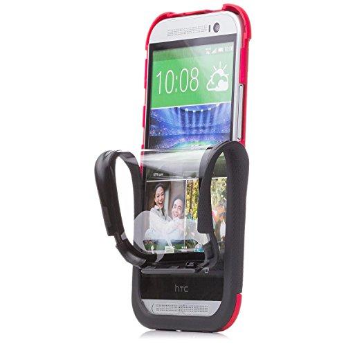 iCues Apple Apple iPhone 4/4S 2 Part Touch Case - Grün - 360 Grad Rundumschutz mit integriertem Displayschutz rot