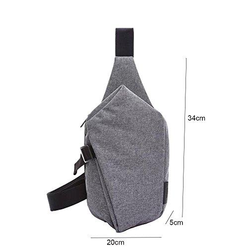 DOXUNGO Unisex Sling-Rucksack unregelmäßige Form Schultertasche für Freizeit Reisen Wandern Fahrradfahren Schwarz