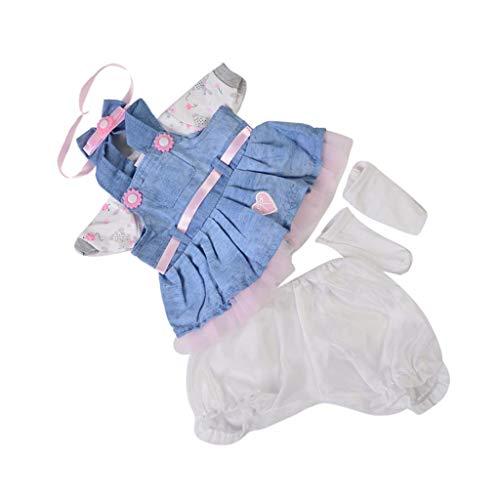 Baoblaze Handgemachte Puppenkleidung Puppenkleider Puppen Outfit für Neugeborene Puppe - Cowboy, 16-17 Zoll