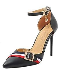 Lydee Mujer Zapatos Moda Tacones de Aguja Sandalias Correa de Tobillo 740cce8cac3e