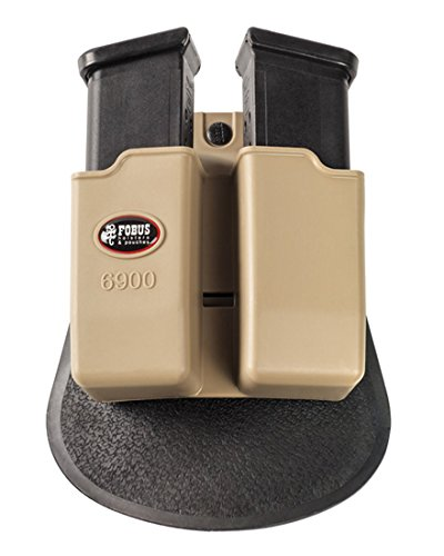 Fobus Double Mag Magazine Paddle Desert Khaki D.mag Pouch for Glock 9mm -