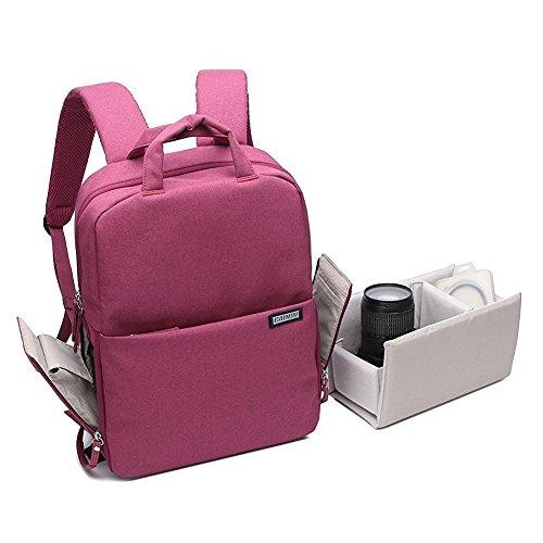 Olympus Gadget Bag (Huntvp Kamerarucksack Multi Camera Backpack Shockproof DSLR Fototasche Wasserdicht 14 Zoll Laptoptasche Langlebig Universal Camerabag für Objektiv Kamera und Zubehör Blau Hellgrau Grau Dunkelrot)