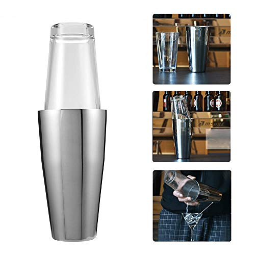 OLDK 800 ml / 400 ml Edelstahl Barkeeper Cocktail Shaker Mixer Wein Martini Trinken Boston Stil Glas Shaker Party Bar Werkzeuge Apple Martini-mixer