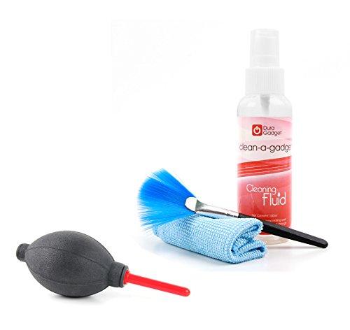 DURAGADGET Ergonomischer Blasebalg und Reinigungsset bestehend aus Flüssigkeit | Tuch | Pinsel für ACEPAD Tablet-PCs. Kompatibel mit: A121 (10.1