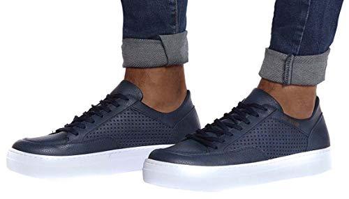 LEIF NELSON Herren Schuhe Freizeitschuhe elegant Winter Sommer Freizeit Schuhe Männer Sneakers Sportschuhe Laufschuhe Halbschuhe LN154; Größe 41, Dunkel Blau