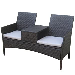 kurtis dunloe gartenm bel 2 sitzer in rattan optik. Black Bedroom Furniture Sets. Home Design Ideas
