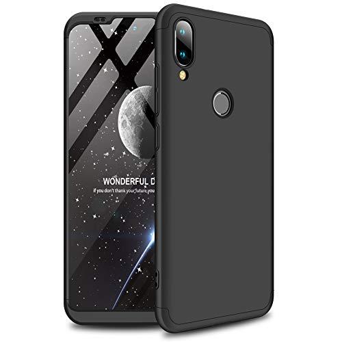AChris Custodia Cover Case con Protezione Dello Schermo per Xiaomi Mi Play 3 in 1 Rigida PC Custodia Ultra Sottile Antishock Antiurto Anti-Graffio- Nero
