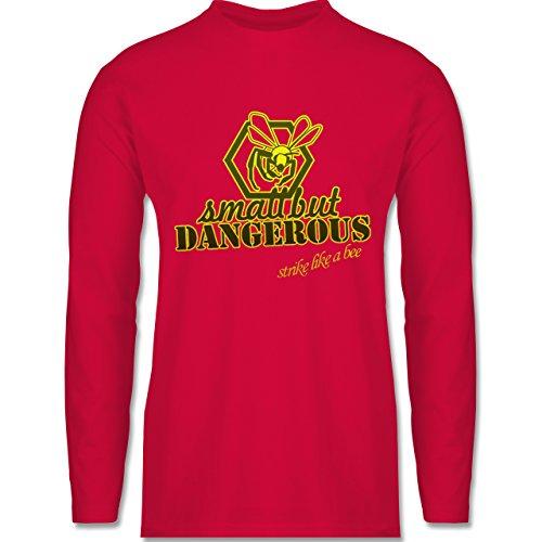 Statement Shirts - Small but dangerous Biene - Longsleeve / langärmeliges T-Shirt für Herren Rot