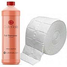 Nail Remover 1000ml Mandarina + 500 Celulosas ideal para esmaltes permanentes - Acetona con olor a
