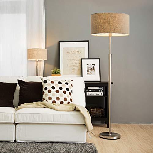 Lampadaires- Corps de lampe conique lampadaire salon simple moderne chambre étude lampadaire nordique européen créatif lampadaire vertical (Couleur : Lin)