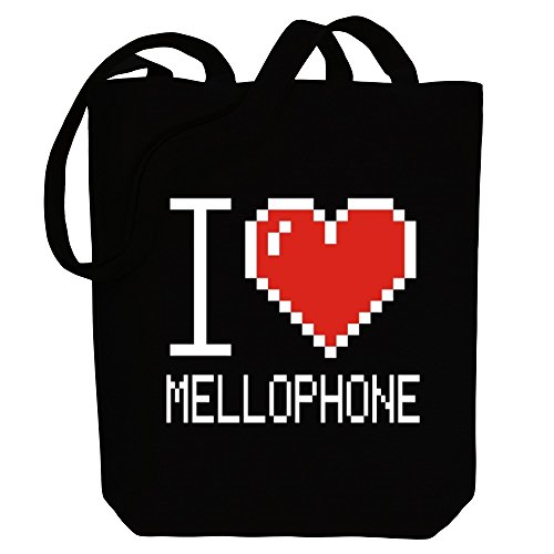 Idakoos I love Mellophone pixelated - Instrumente - Bereich für Taschen