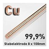 Rundstäbe reiner Metalle 8 x 100 mm zur vergleichenden Untersuchung von Werkstoffeigenschaften, Referenz-Proben (Kupfer)