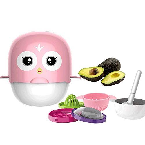 Rabbfay Baby Essen Ergänzung Küchenmaschinen, Baby Lebensmittel Hersteller, Lebensmittel Prozessor Mit Mahlen, Zerquetschen, Entsaften, Filtern, Lebensmittel, Einfach Zu Zerlegen Sie,Pink