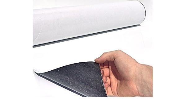 Eisenfolie Ferrofolie selbstklebend weiß matt 0,6mm x 50cm x 100cm