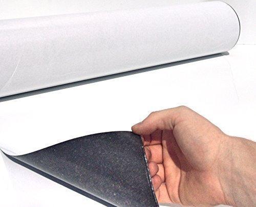 Eisenfolie - Ferrofolie Weiß Matt selbstklebend 620mm x 1200mm x 0,6mm selbstklebend - Haftgrund für Magnete - Magnetfolie - Whiteboard Flexibel
