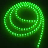 Well-Goal Green 120cm 120LED Car Van Neon Waterproof Flexible Strip Light Lamp Bulb 12V