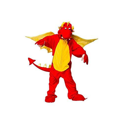 Wicked - Costume da drago sputafuoco per bambini e bambine, disponibile in 4 taglie - 9-10 anni