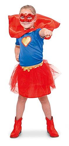 Kostüm Kind Superwoman - Folat 63222 -Superheld-Mädchen-Hemd-Mädchen, Größe S, Mehrfarbig