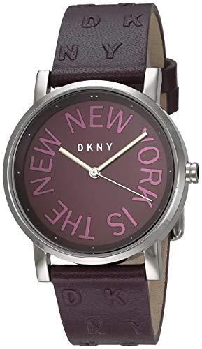 DKNY Orologio Analogico Quarzo Donna con Cinturino in Pelle NY2762