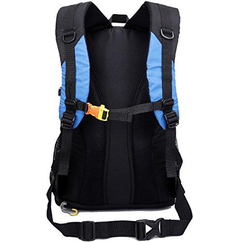 Beruf Unisex Klettern Hohe Kapazität Erweitert Version Wandern Camping Tourismus Wasserdicht Nylon Rucksack Rot