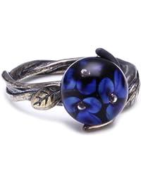 Trollbeads Damen-Ring Blaue Blume R6107