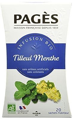 Pagès Infusion Tilleul Menthe Bio 20 sachets - Lot de 2