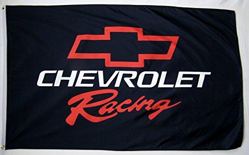 5' Outdoor Indoor Banner (Chevrolet Racing Auto Flagge 3'x 5' Indoor Outdoor Automotive Banner)
