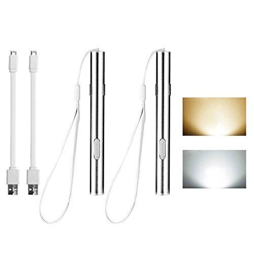 FOONEE Mini LED USB Linterna Recargable bolígrafo