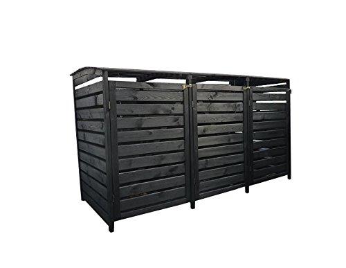 *Mülltonnenverkleidung Holz für drei 240 Liter Tonnen, alternativ können auch 120 Liter Tonnen eingestellt werden*