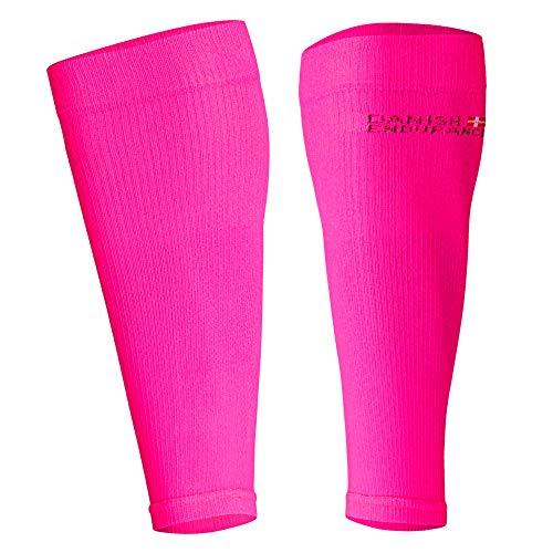 DANISH ENDURANCE Abgestufte Waden-Kompressionsstrümpfe ohne Fuß (Neon Pink, S)