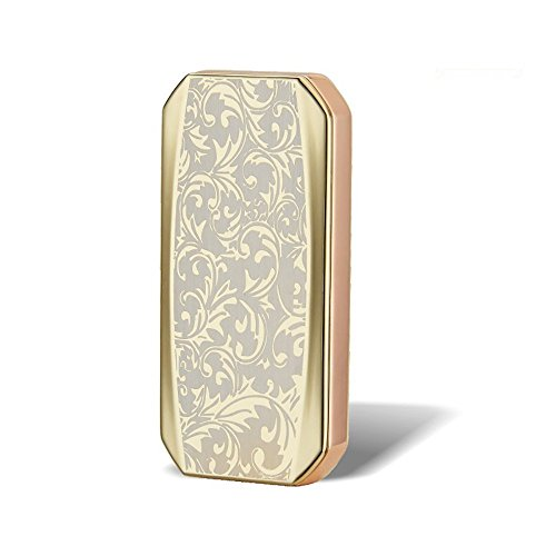 USB mechero sin llama, Shuning puros Mechero de mecheros resistente al viento batería para cigarrillos, Golden Flower