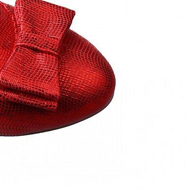 LYNXL Talloni delle donne Primavera Estate Autunno Inverno Dress Comfort novità PU similpelle nozze ufficio & carriera Party & Sera casuale tacco grosso Gold