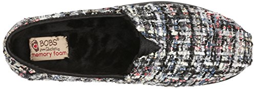 BOBS from Skechers Womens Bliss Highbrow Flat, Brown Woven, 10 M US Black/Multi Woven