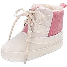Naturazy Adición de Botas Nieve del Invierno bebé niña Soft Sole Zapatos Invierno cálido Calzado Botas