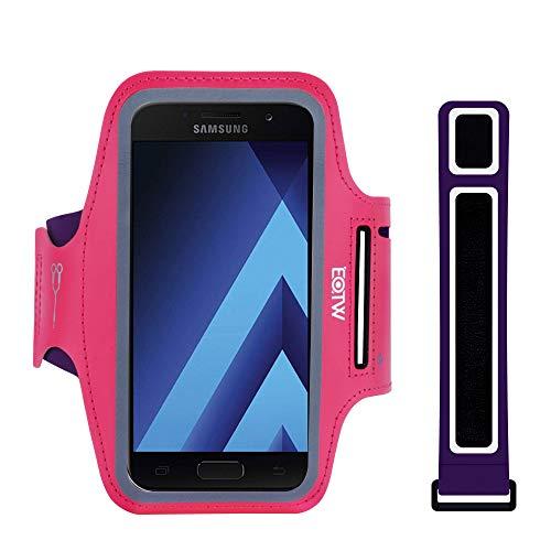 EOTW Sportarmband Handyhülle Kompatibel mit Samsung Galaxy A3 2016/2017, Handyhalterung Arm für Joggen Laufen 4,7 Zoll Pink - S3 Galaxy Case Armee-samsung