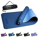 BODI Yoga Mat, Classic Pro Yoga Mat TPE Eco Vriendelijke Niet Slip Fitness Fitness Mat met Draagband-Workout Mat voor Yoga, Pilates en Gymnastiek 183 x 61 x 0.6CM